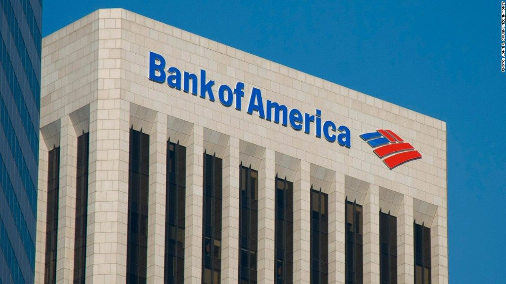 illustration picture of Bank of America. You can see one of their buildings on the picture